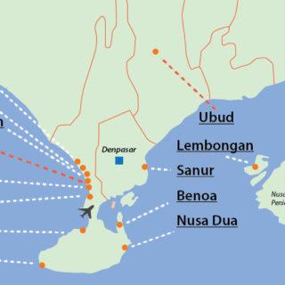 south bali map